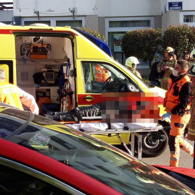 Prometna nesreća na križanju Mažuranićeva šetališta i Ulice slobode