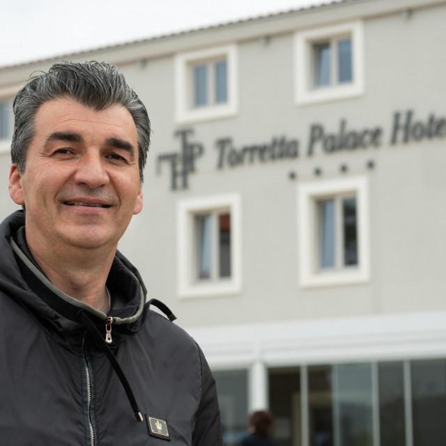Toretta Palace Hotel vlasnika Jole Kadije u Turnju kraj Zadra.<br /> Na fotografiji: Jole Kadija.<br />