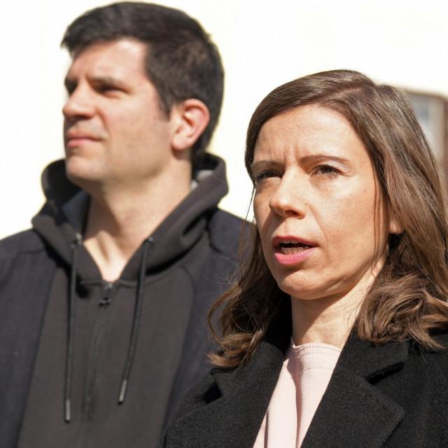 Katarina Peović i Mate Kapović iz Radničke fronte