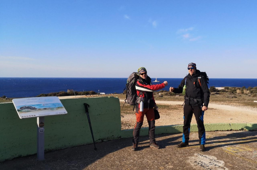Daniel Lončar i Ranko Dragičević, organizatori humanitarne akcije '1100 kilometara za 1100 terapija'