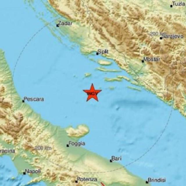 Potres se osjetio na otocima