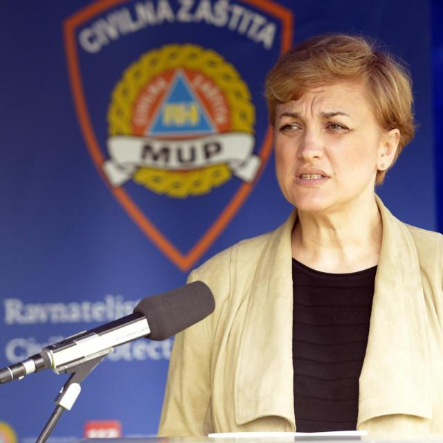 Zagreb, 260620<br /> Centar CZ, Nehajska 5, konferencija za medije Stozera civilne zastite RH.<br /> Na fotografiji: Marija Bubas.<br />