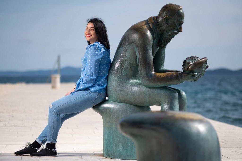 Jelena Mirić je studentica iz Novog Sada na Erasmus razmjeni u Zadru.