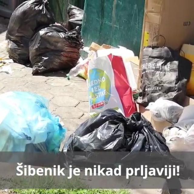 Zekanović je snimio nagomilano smeće u centru Šibenika