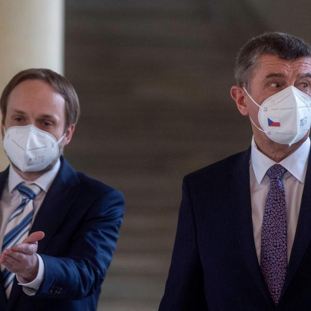 Češki premijer Andrej Babiš i ministar vanjskih poslova Jakub Kulhanek