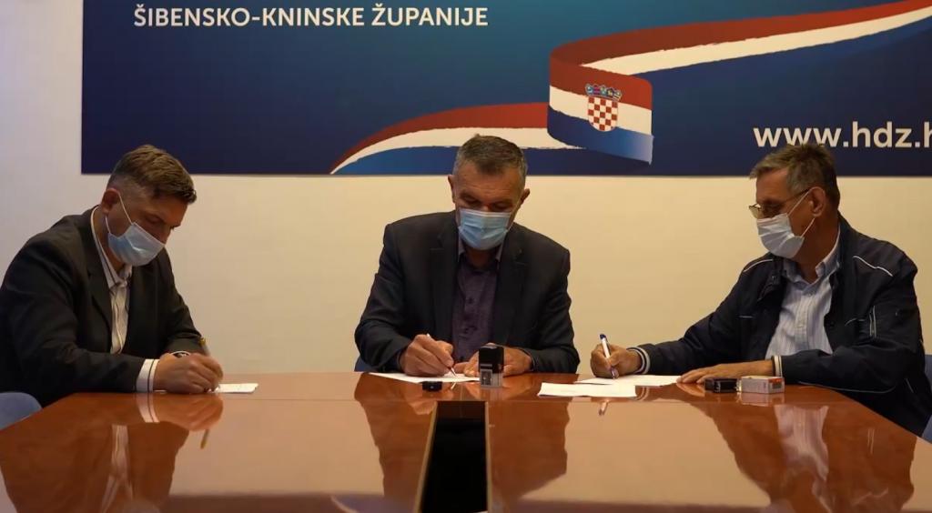Potpisivanje predizbornog koalicijskog ugovora HDZ-a i HSLS-a za Šibenik i županiju
