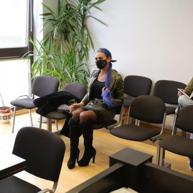 Olja Einfalt Mihovilović u sudnici Županijskog suda gdje joj se sudi zbog malverzacija teških 17 milijuna kuna