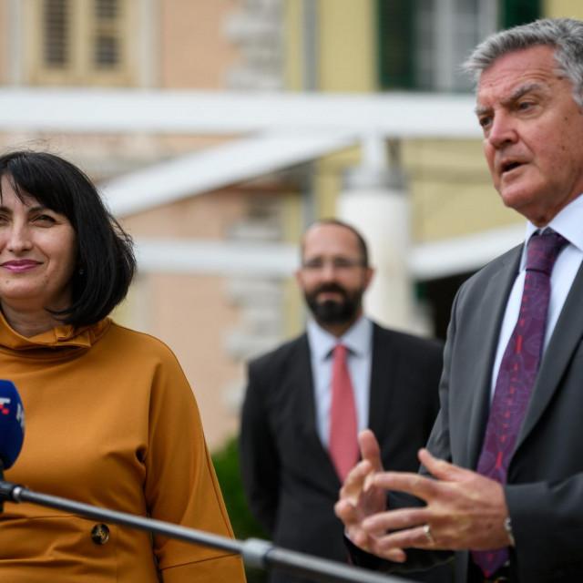Gradonačelnik Željko Burić i Victoria Zinchuk, direktorica ureda EBRD-a u Hrvatskoj