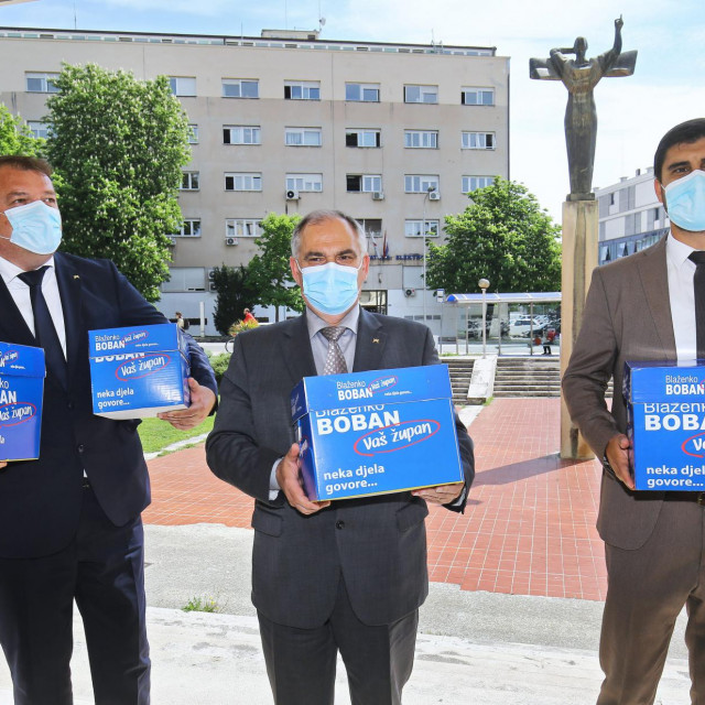 Potpise potpore predao je Blaženko Boban s kandidatima za svoje zamjenike Antom Šošićem i Stipom Čogeljom