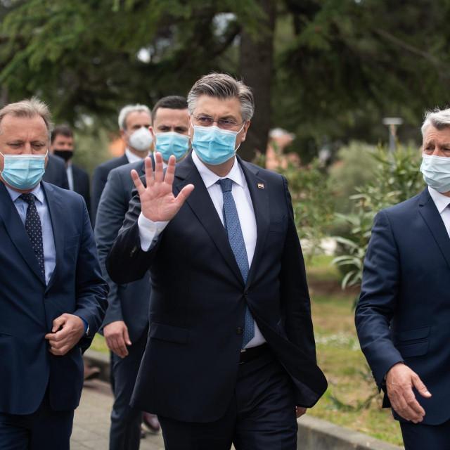 Andrej Plenković, Božidar Longin i Branko Dukić na Višnjiku