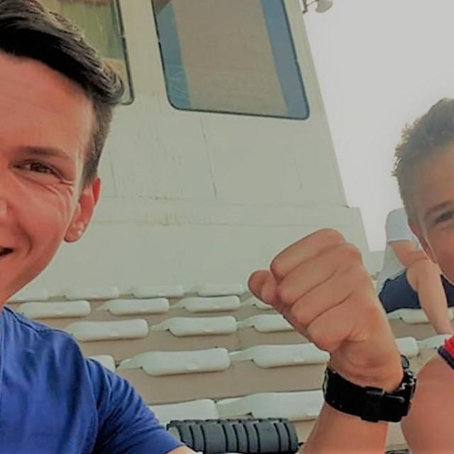 Trener Vedad Đugum i Erik Antolović, mlađe kadetskim prvak Hrvatske u šestoboju