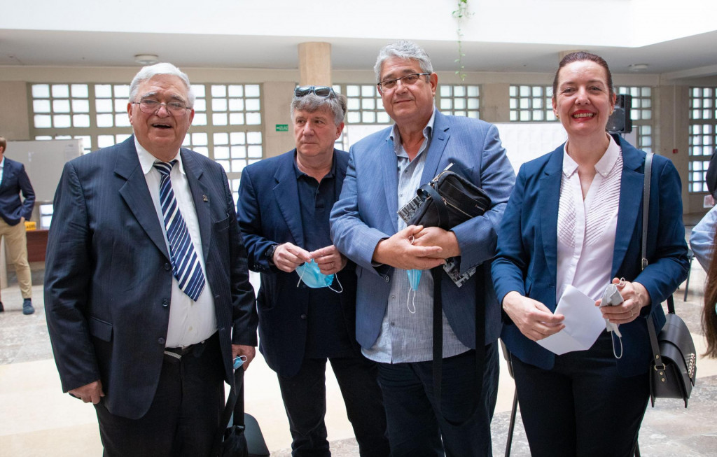 Onesin Cvitan, Zvonko Šegvić, Jure Šundov i Darka Todorić<br />