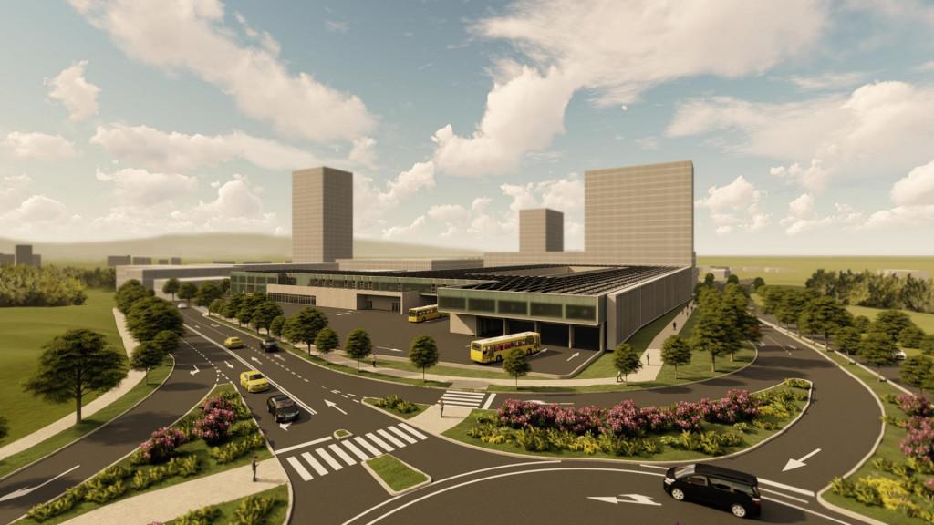 Vizualizacija idejnog rješenja 'Prometova' garažno-servisnog centra na Dračevcu