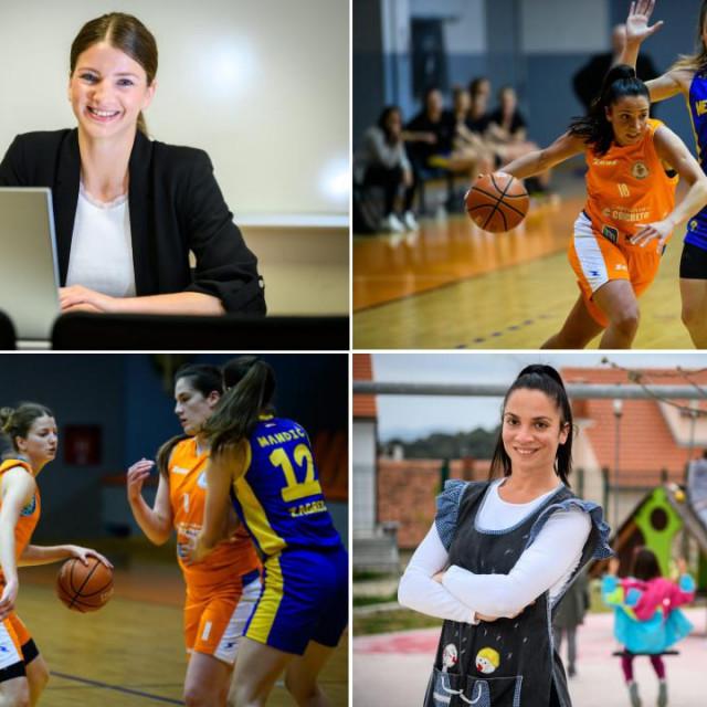 Ivana Dujić i Iva Cigić, teško nadomjestive članice petorke Šibenika, od košarke ne mogu živjeti. Jedna je teta u vrtiću, druga pomorska agentica