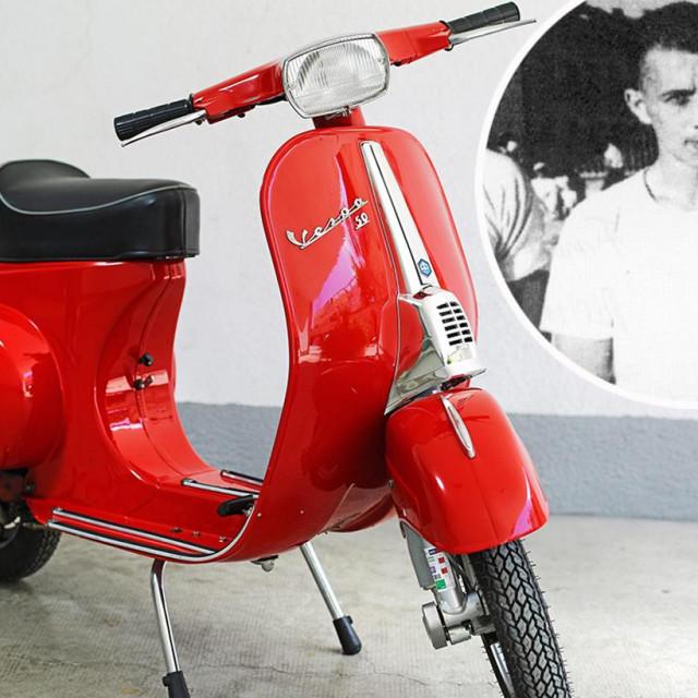 'Vespa Special 50' iz 1969., u vlasništvu Boška Grubišića, koja će biti izložena u Muzeju grada Splita i Bajdo Vukas, njezin prvi splitski poklonik