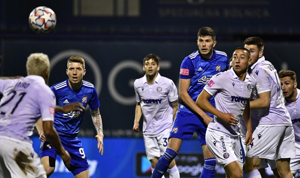 Zagreb, 250421.<br /> Stadion Maksimir.<br /> Utakmica 31. kola 1. HNL, GNK Dinamo - HNK Hajduk.<br /> Na fotografiji: Kristijan Jakic.<br />