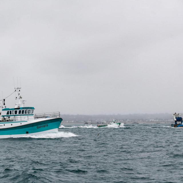 Francuski ribarski brodovi vraćaju se kući nakon prosvjeda