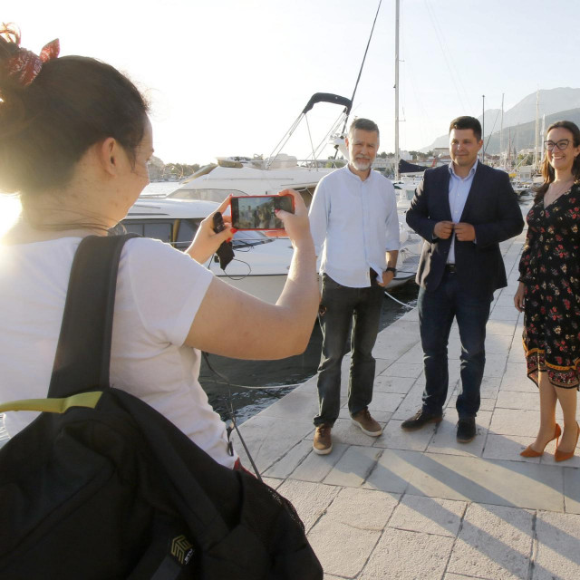 Ante Renić, Ante Pranić i Maja Jurišić u Makarskoj<br />