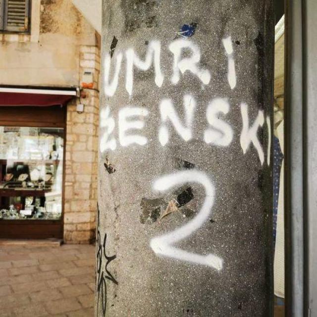 Grafit u Šibeniku izazvao je brojne rekacije na društvenim mrežama