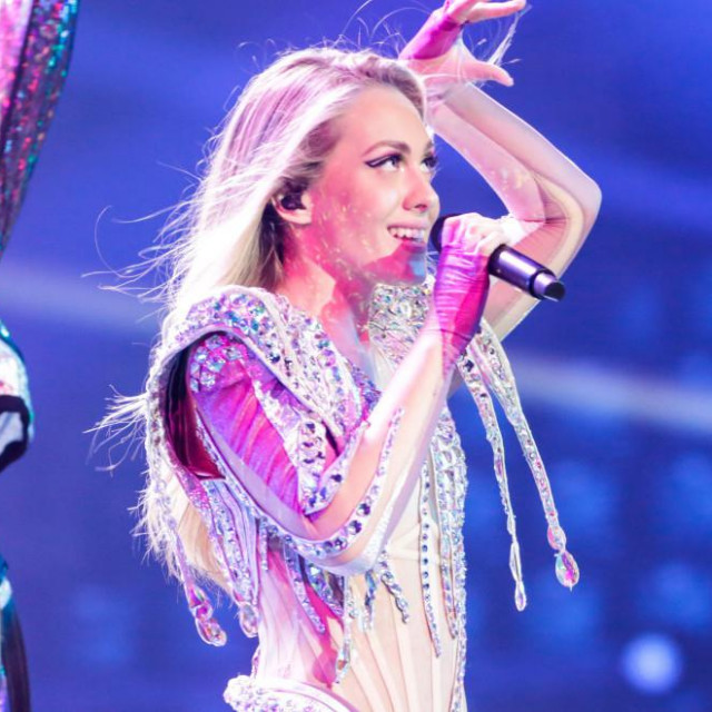 Albina Grčić imala je prvu probu na eurovizijskoj pozornici.