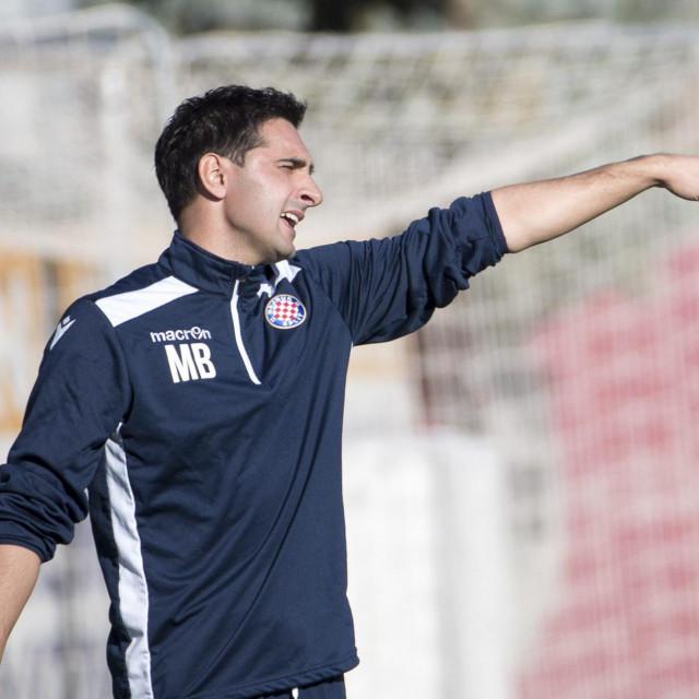 Split,151219<br /> Stadion u Poljudu Prva HNL - juniori utakmica HNK Hajduk - GNK Dinamo.<br /> Na fotografiji: treneri Marijan Budimir i Andrej Miokovic.<br />