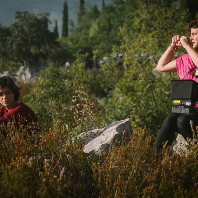 Marija Škaričić i Andrea Štaka na snimanju 'Mare'