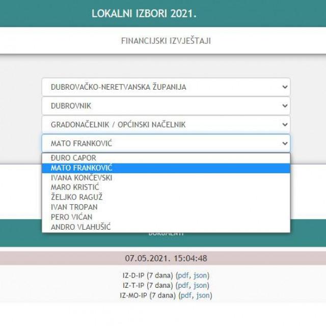 drzavno izborno povjerenstvo - popis donatora