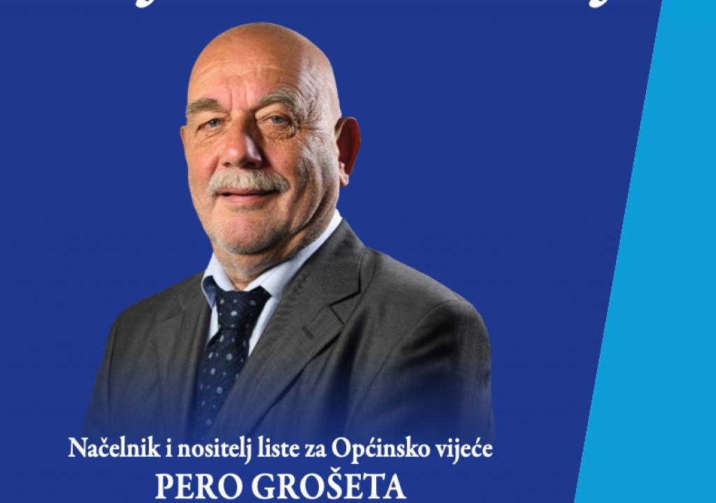 Pero Grošeta, Knežićev konkurent u utrci za načelnika Dubrovačkog primorja