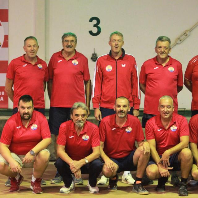 Boćari Rijeke Mandaljene snimljeni uoči utakmice 4. kola sezone 2020./21., 26. rujna 2020. godine protiv Sokola u dvorani u Srebrenom