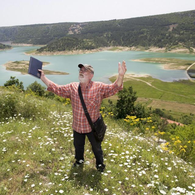 Stipe Krce na Zelenom jezeru.