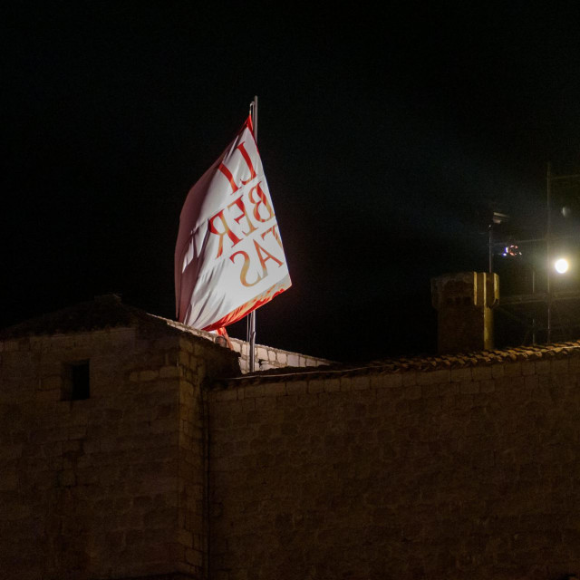 Dubrovnik, 090720.<br /> Generalna proba Svecanog otvaranja Dubrovackih ljetnih igara tradicionalno se odrzala u ponoc u Gradskoj luci Dubrovnik.<br />