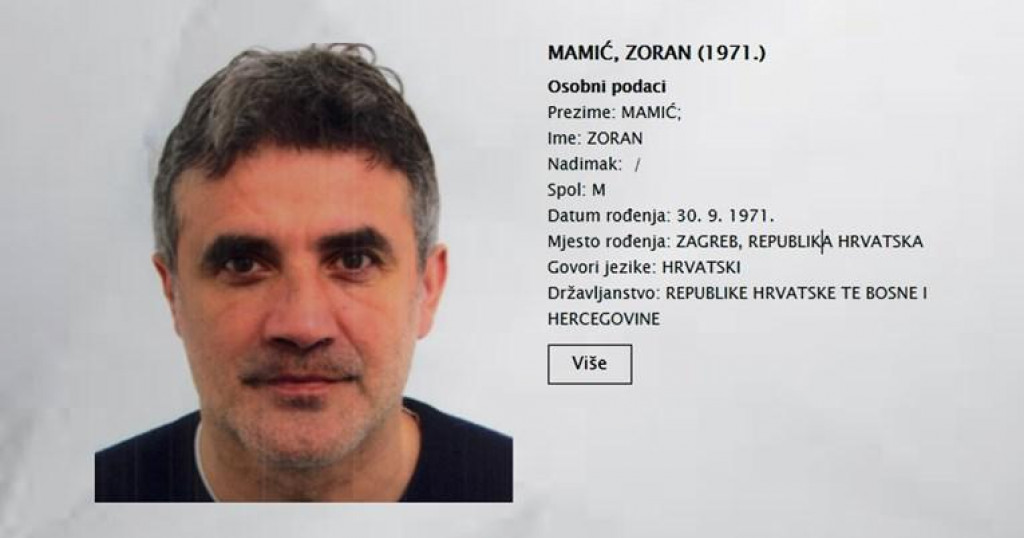 Tjeralica za Zoranom Mamićem