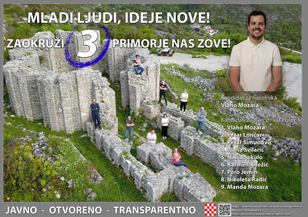 Vlaho Mozara predvodi listu mladih za Dubrovačko primorje