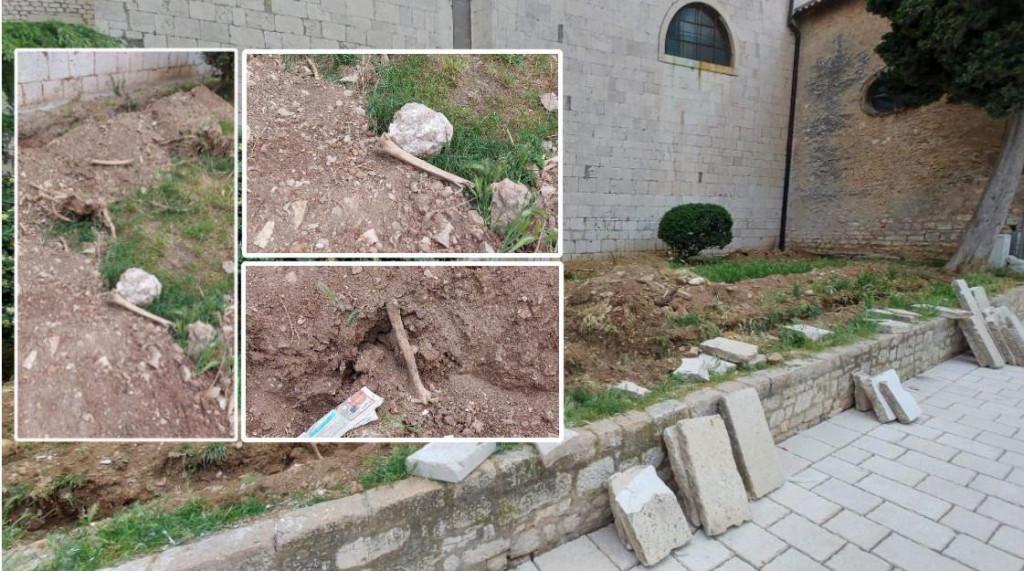 Ljudske kosti ostale su izložene ispred crkve sv. Frane