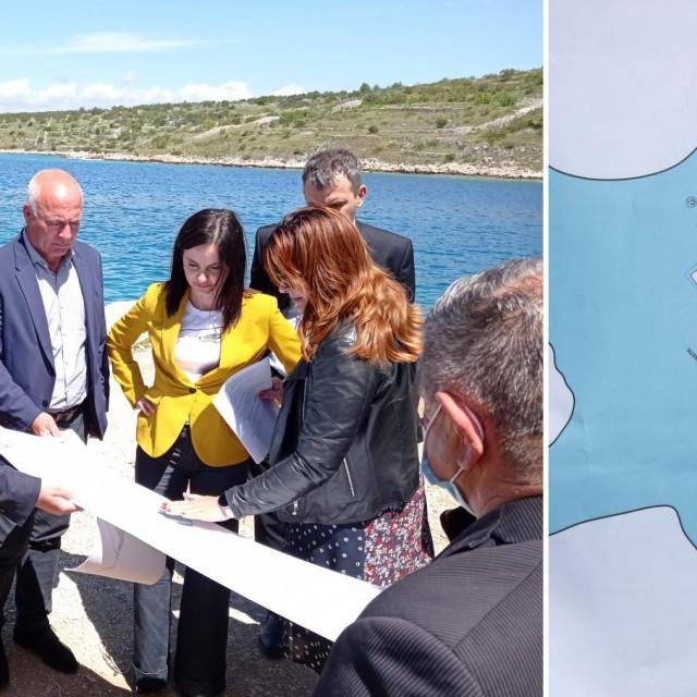 Marija Vučković, ministrica poljoprivrede zajedno s županom šibensko-kninskim Goranom Paukom i rogozničkom načenicom Sandrom Jakelić posjetila je u petak uvalu Peleš