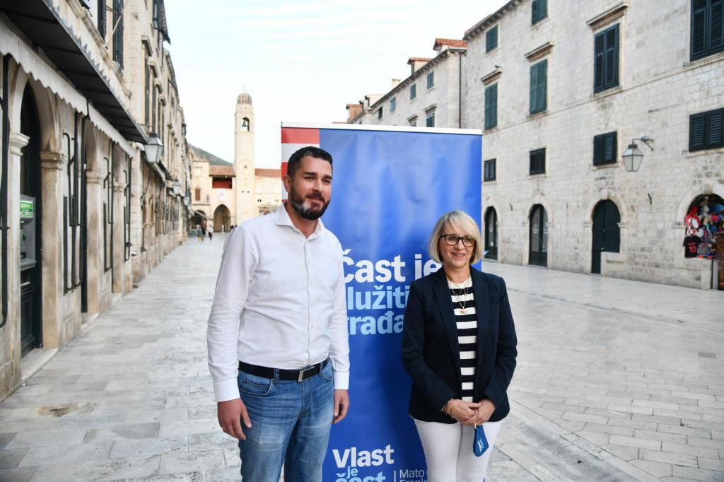 Kandidatkinja za zamjenicu dubrovačkom gradonačelniku Jelka Tepšić (HDZ) i kandidat za zamjenika župana Joško Cebalo