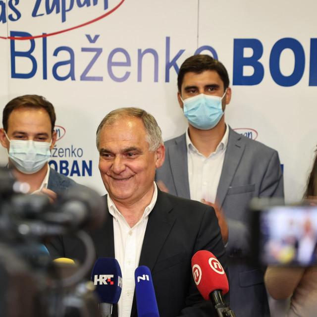 Blaženko Boban u izbornom stožeru HDZ-a