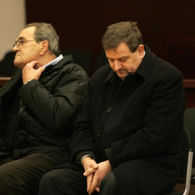 Na fotografiji:Luka Jerić (desno) tijekom suđenja na Županijskom sudu 2010. godine