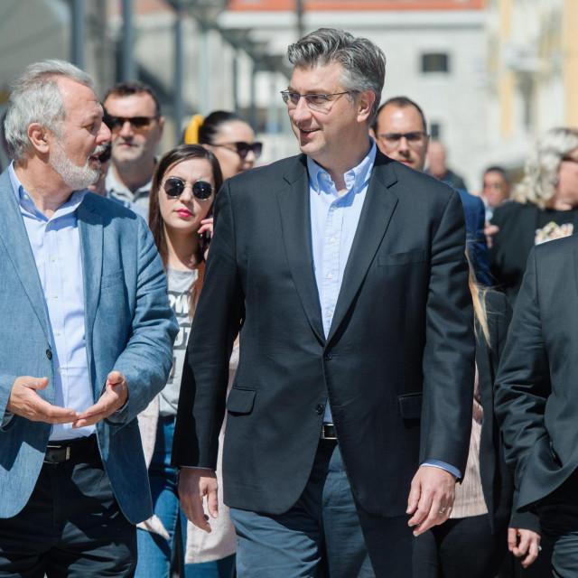 Na fotografiji: Andrej Plenković, Ante Sanader i Blaženko Boban
