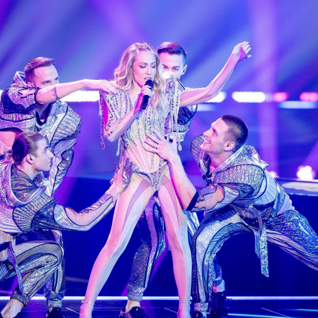 Albina Grčić na polufinalu Eurosonga