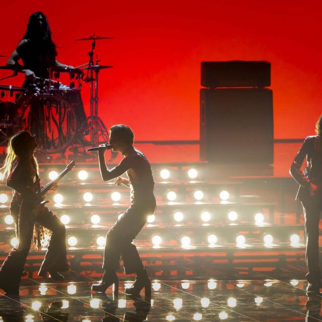 """Talijanska grupa <strong>Måneskin</strong> s pjesmom """"Zitti e buoni"""" favorit je Eurosonga."""