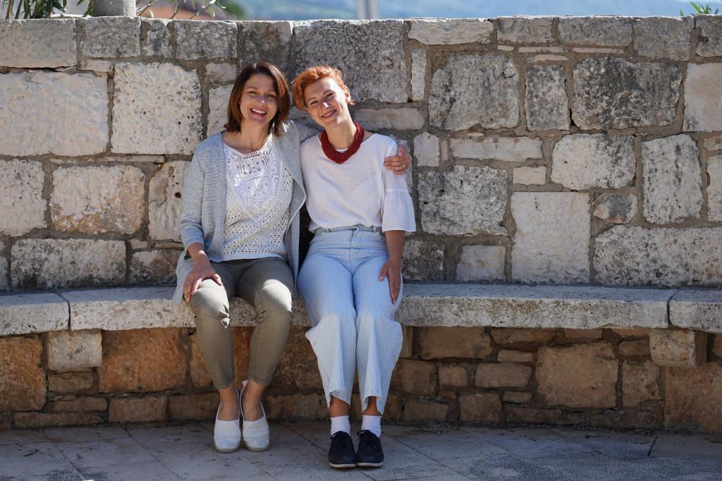 Nika Silić Maroević, gradonačelnica Korčule, i Marija Klisura, načelnica Lumbarde