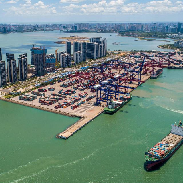 Kineska luka Haikou u južnoj provinciji Hainan