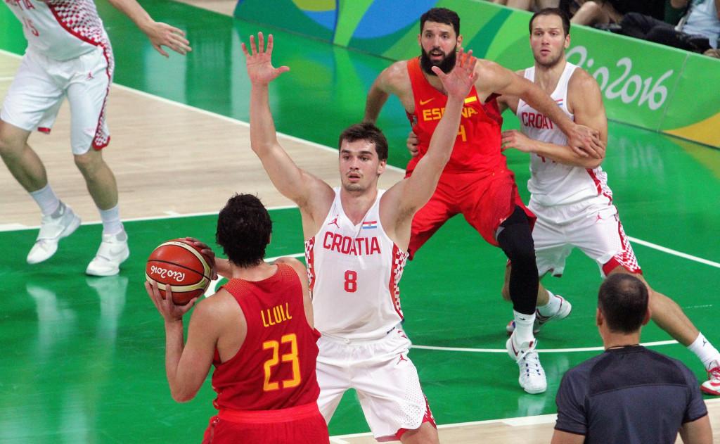 Mario Hezonja (Hrvatska) protiv Španjolske na Olimpijskim igrama u Riju 2016. godine