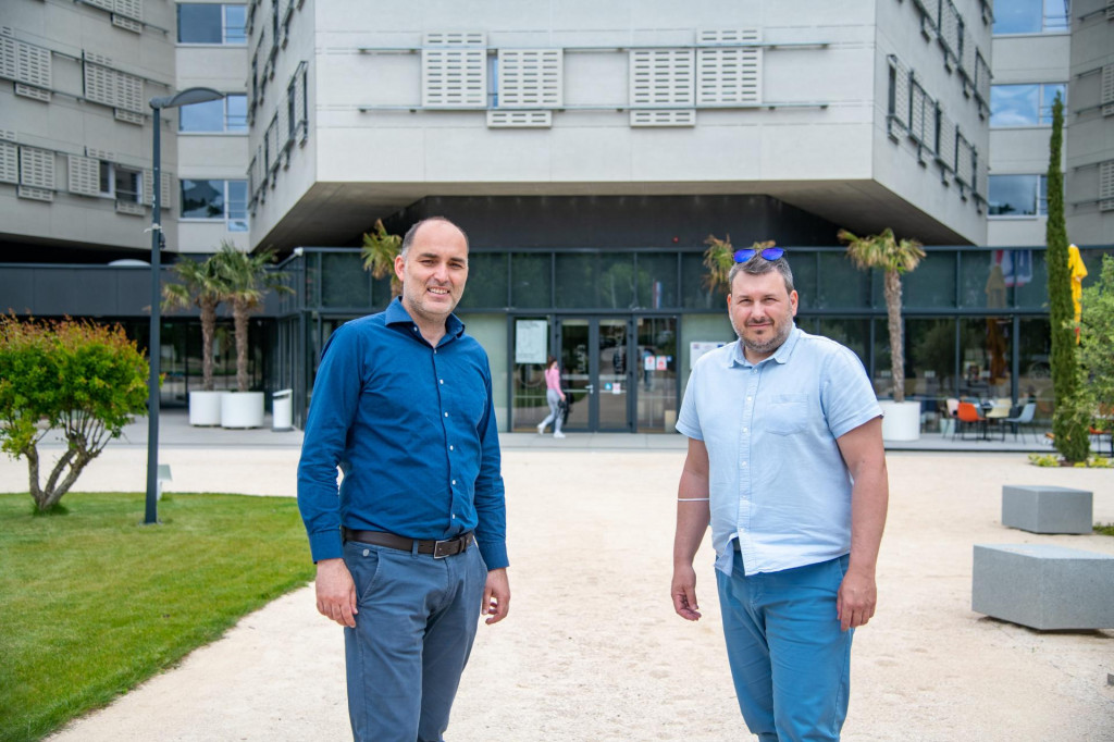 Ravnatelj Studentskog centra Dubrovnik Marko Potrebica i voditelj smještaja Studentskog centra Dubrovnik Marko Asić