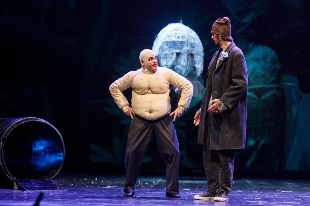 Scena sa probe predstave 'Kukci... zaustavljena priča', koja premijerno igra večeras u Splitu