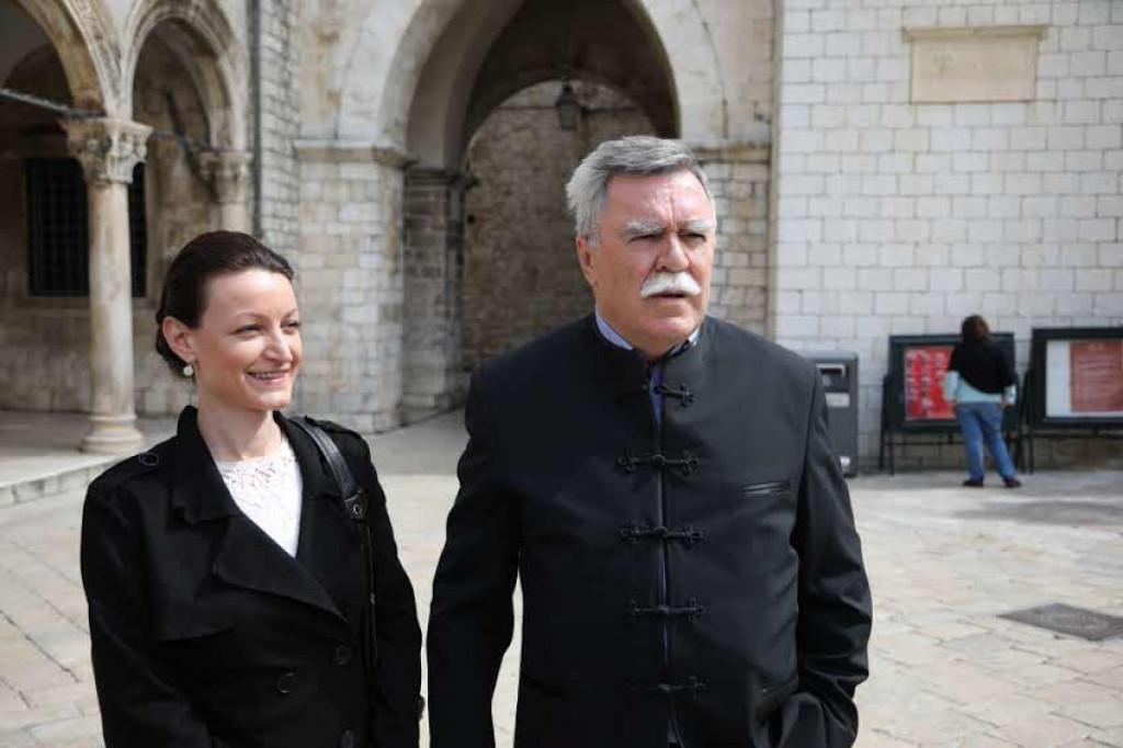 Ivana Končevski i Vedran Violić na predstavljavnju kandidata DP-a u Dubrovniku