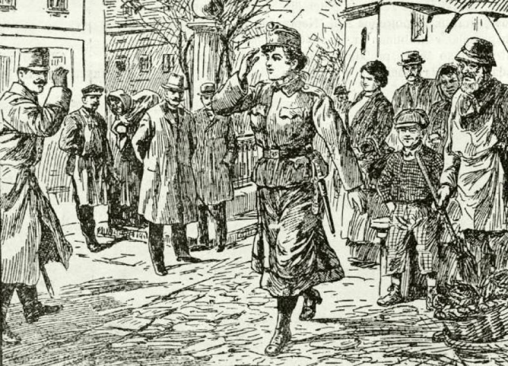 Ovako su jedinu vojnikinju Austro-Ugarske i prvu kaplaricu prikazivali novinski ilustratori