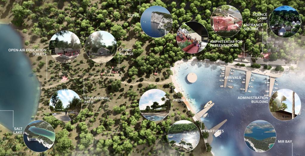 Idejno rješenje uređenja uvale Mir u PP Telašćica na Dugom otoku