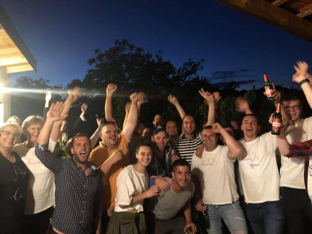 Slavlje u stožeru novog opuzenskog gradonačelnika Ivana Matage